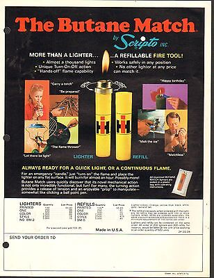 VINTAGE AD SHEET #1751 - SCRIPTO BUTANE LIGHTER