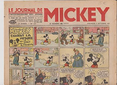 Journal de MICKEY n°151 du 5 septembre 1937 -  Bel état