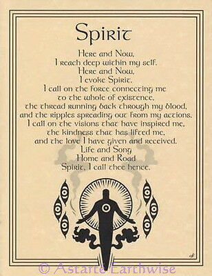 SPIRIT EVOCATION - POSTER  Wicca Pagan Witch Witchcraft Goth BOOK OF SHADOWS