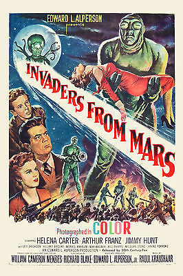 1950's Sci-Fi  * Invaders From Mars  *   Movie  Poster 1953