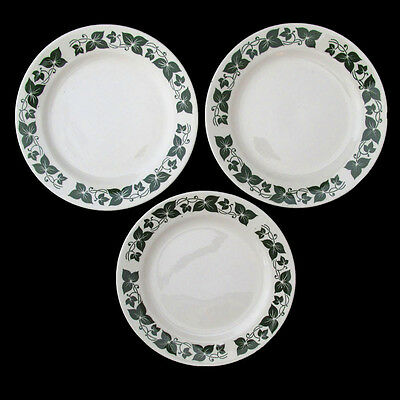 Homer Laughlin Sylvan Bread And Butter Plates Three Brittany Green Leaf Berries