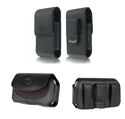 Horizontal + Vertical Leather Holster Carry Case Cover Pouch Clip Sprint Phones