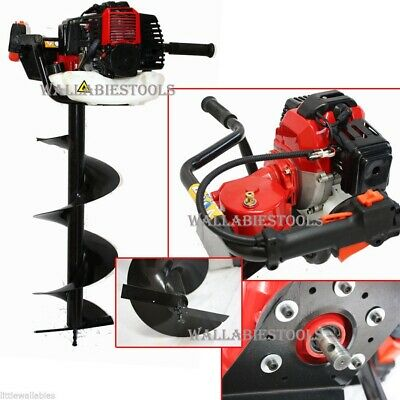"""ONE MAN 52CC EARTH PLANTING FENCING POST HOLE DIGGER AUGER  W/ 8"""" x 1M Bit"""