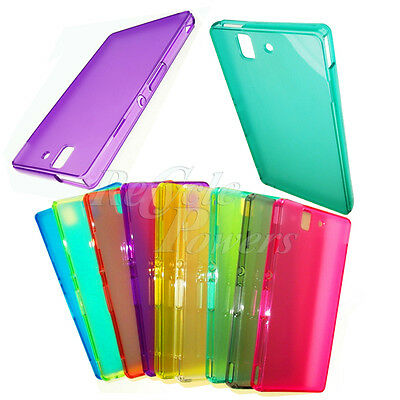 TPU Silicone protect Phone Case Soft Skin cover for SONY XPERIA Z L36h C6603 Lot