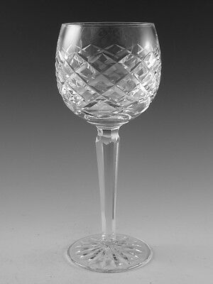 """WATERFORD Crystal - TYRONE / ADARE Cut - Hock Wine Glass / Glasses - 7 3/8"""""""