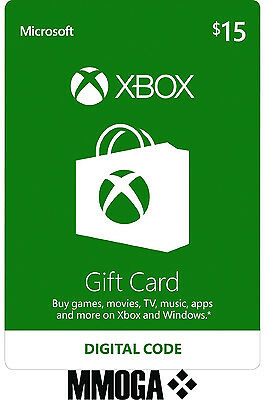 Xbox Live Gift Card 15 USD - $15 US Dollars USA Microsoft One 360 Guthabn Code