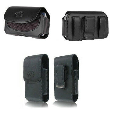 Horizontal + Vertical Style Leather Case Cover Pouch Purse Clip Holster for ATT