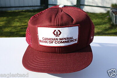 Ball Cap Hat - Canadian Imperial Bank of Commerce - Burgundy - CIBC (H663)