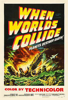 1950's Sci-Fi  * When Worlds Collide  *   Movie  Poster 1951