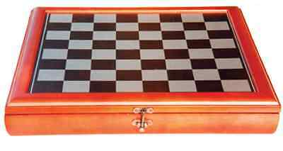 *NEW* Traditional Wood Timber Framed Chess Board & Combined Storage Box 40cm