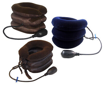 Stacked Air Pump Neck Pillow/Traction or Pain Relief Collar Inflatable Device