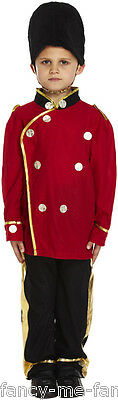 Boys Buzby Guard Royal British London Soldier Fancy Dress Costume Outfit 4-12 yr