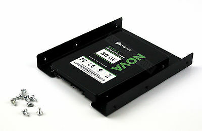 """2.5"""" to 3.5"""" SSD HDD Mounting Adapter Kit  Bracket Hard Drive Holder With Screws"""