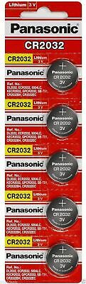 5 Panasonic CR2032 ECR2032 batteries 3v lithium battery  USA Seller Exp. 2028