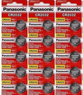 15 x SUPER FRESH Panasonic ECR2032 CR2032 Lithium Battery 3V Coin Cell Exp. 2028