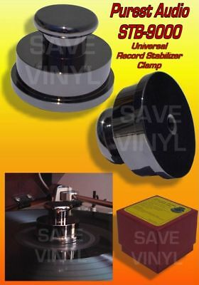Audiophile SOLID BRASS Turntable Record Player Stabilizer Clamp Weight Chrome 16