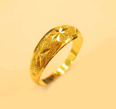 22K GOLD Sparkling ring from Thailand SIZE 4.25 #b5