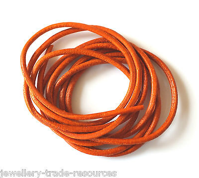 GARNET RED 100/% NATURAL 1.3mm LEATHER CORD THONG THREAD NECKLACE /& JEWELLERY
