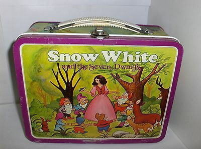 Snow White & The Seven Dwarfs`1980`Disney Productions.Metal Lunchbox->Free To US