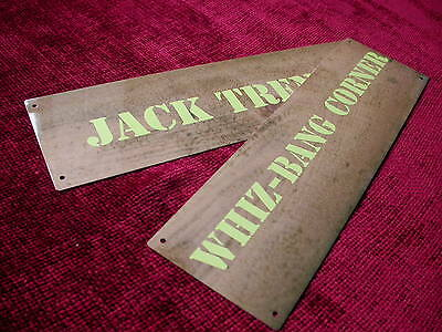 Replica Copy WW1 Metal Trench Sign Door Plate Made to order-choose text