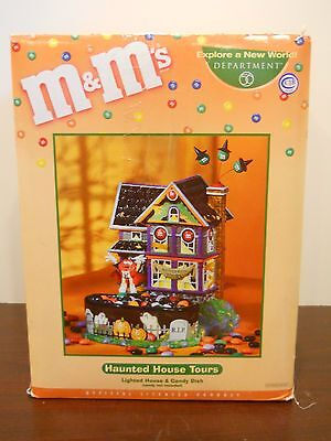 department dept 56 M&M's haunted house tours lighted candy dish decor halloween