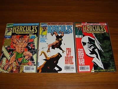 Hercules: Heart Of Chaos #1 - 3 Set (Marvel) 1997