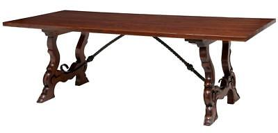 Spanish Influenced Fruitwood Refectory Dining Table
