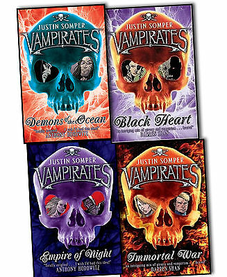 Justin Somper Vampirates 4 Books Collection Pack Set New Paperback