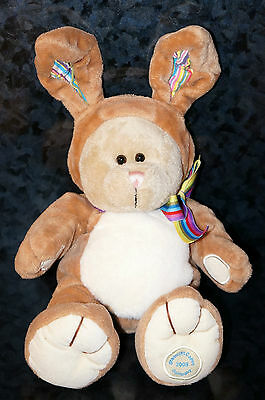 STARBUCKS Bearista 75th Edition TEDDY BEAR Plush Doll COFFEE Easter Bunny Rabbit
