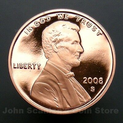 2008-S Lincoln Memorial Cent Penny - Gem Proof Deep Cameo U.S. Coin