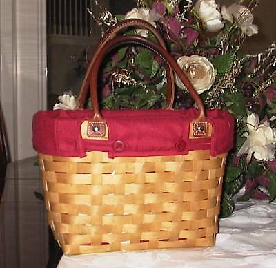 Longaberger SMALL Boardwalk Basket  Fabric LINER ONLY - PAPRIKA - Closeout!!