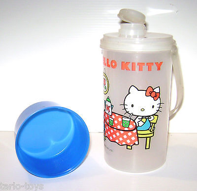 HELLO KITTY 80s Sanrio Japan vintage travel bottle - bottiglia da viaggio mint
