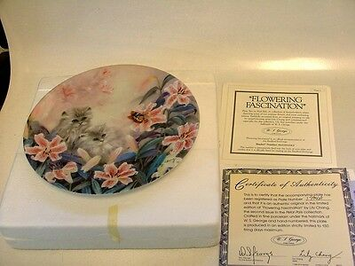 NICE W S GEORGE COLLECTIBLE PLATE FLOWERING FASCINATION #6 IN PETAL PALS COL