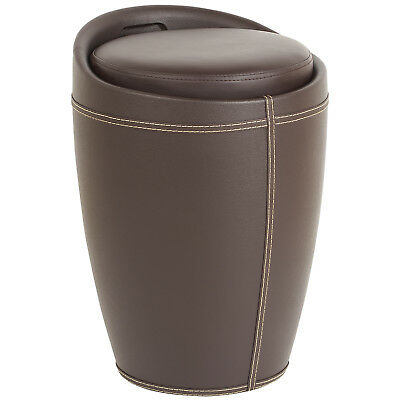 Faux Leather Hidden Storage Ottoman Stool/box Tub/barrel Chair/seat Furniture