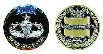 Us Army Senior  Paratrooper Airborne Military All The Way Challenge Coin