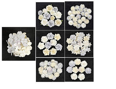 Prima Frost Mulberry paper flowers
