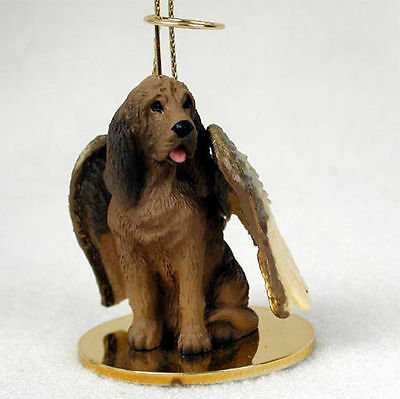 Bloodhound Dog Figurine Angel Statue