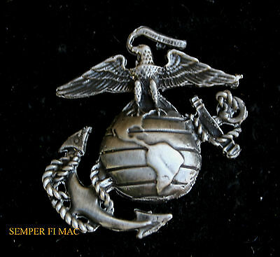 Eagle Globe & Anchor Hat Pin Ega Xl Made In Us Marines Mar Div Maw Fmf Mcrd Wow