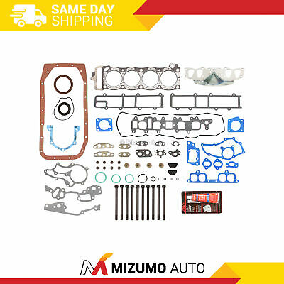 85-95 Toyota 2.4 Oversize Thickness Full Gasket Set Head Bolts Kit 22R 22REC