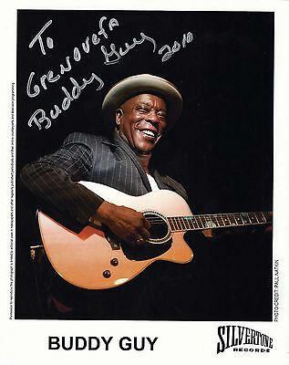 Buddy Guy signed 8x10 promo / publicity photo autograph