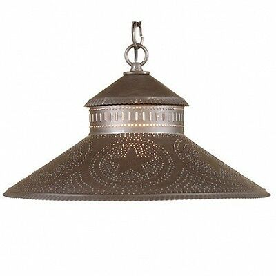 Country new blacken punch tin STAR shade hanging ceiling light / nice