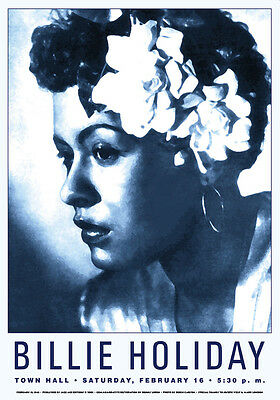 1940's Jazz: Billie Holiday 1st Solo Show Townhall in N.Y.  Concert Poster 1948