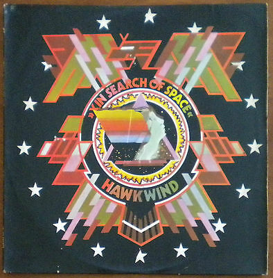 Hawkwind In Search Of Space Rare Orig Israel Israeli Lp Diff Not Gatefold Cover