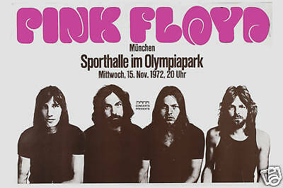 1970's Rock:   Pink Floyd at  West Germany Fair Concert Tour Poster 1972