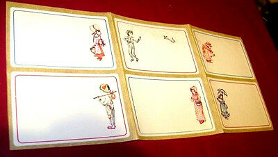 KATE FAMILY 70s Korrida Italy sticker tags 6 pieces  - 6 etichette adesive