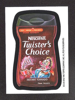 2012 Wacky Packages POSTCARD Series 8 LE Bio Card Fred Wheaton TWISTER'S CHOICE
