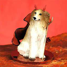 Borzoi Devil Dog Tiny One Figurine Statue