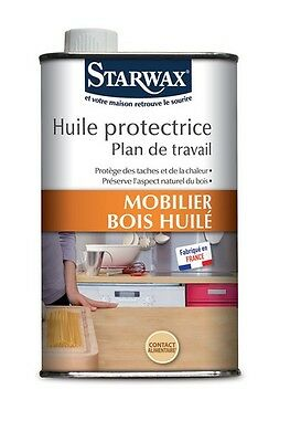 HUILE PROTECTRICE PLAN DE TRAVAIL Apte contact alimentaire  0.5L STARWAX 987