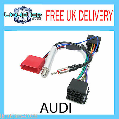Audi A2 2000-2005 Car Stereo Rear Speaker Amplified Bypass Harness Lead PC9-401
