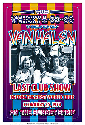 1970's Heavy Metal:  Van Halen at the  Whisky A Go Go L.A. Concert Poster 1978
